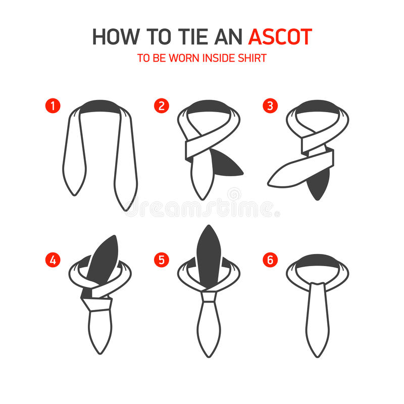 Hoe te om een Halsdoek te binden stock illustratie
