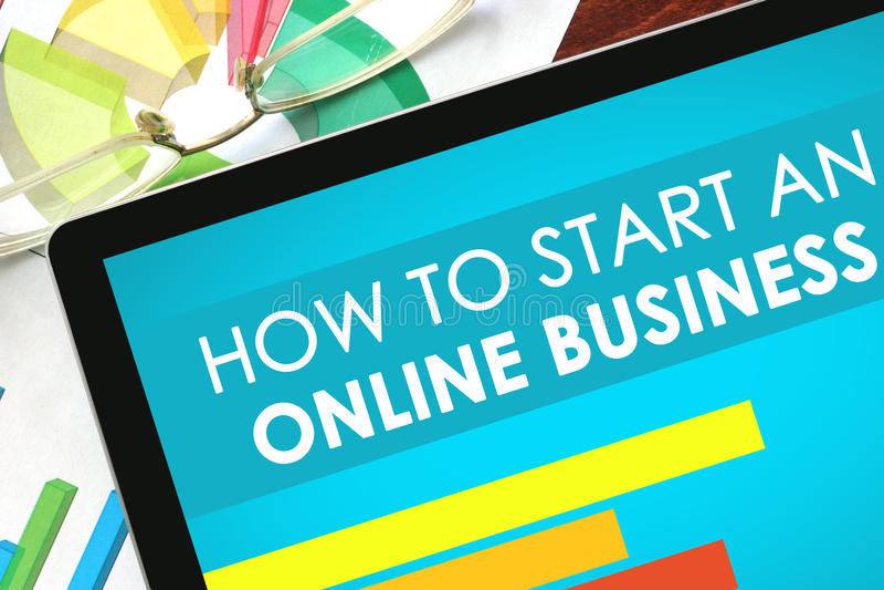 Hoe te om Online Zaken te beginnen stock fotografie