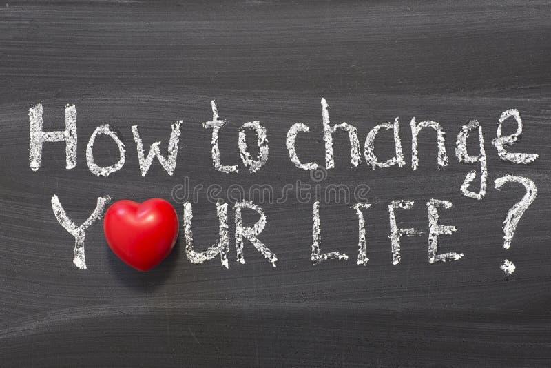 Hoe te om uw leven te veranderen royalty-vrije stock foto
