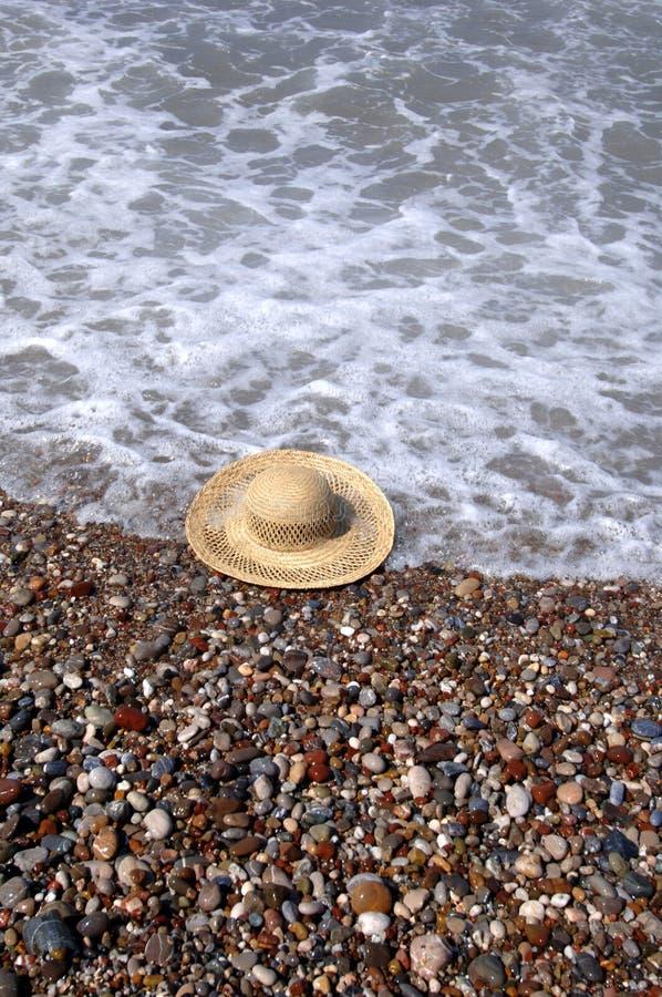 Hoed bij het strand stock afbeeldingen