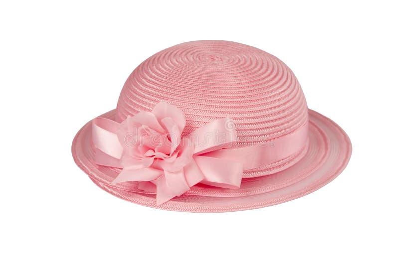 Hoed van Pasen van Childs de kleine in roze royalty-vrije stock fotografie