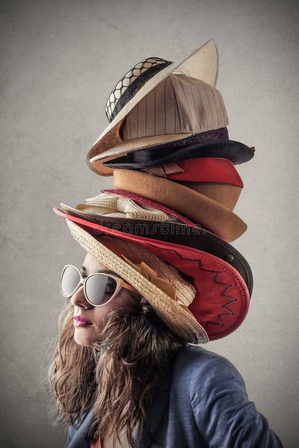 hoeden royalty-vrije stock afbeeldingen