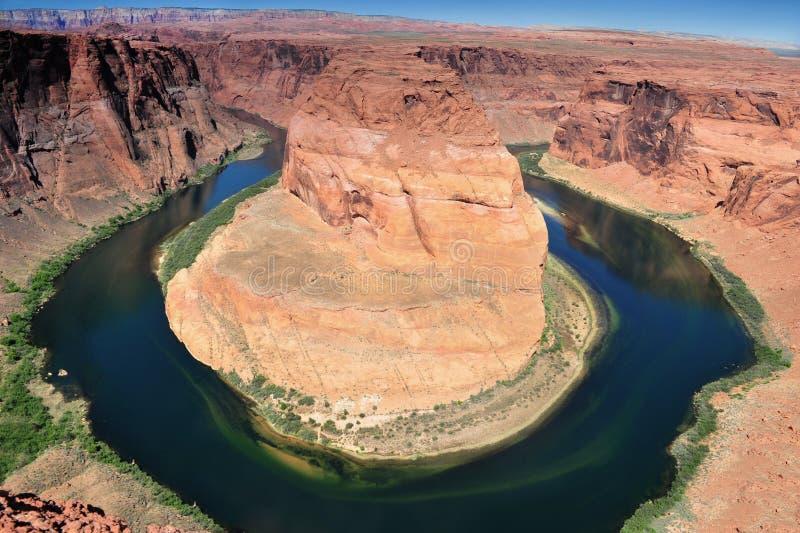 Hoefijzer Kromming, de Rivier van Colorado, Pagina, Arizona stock foto's