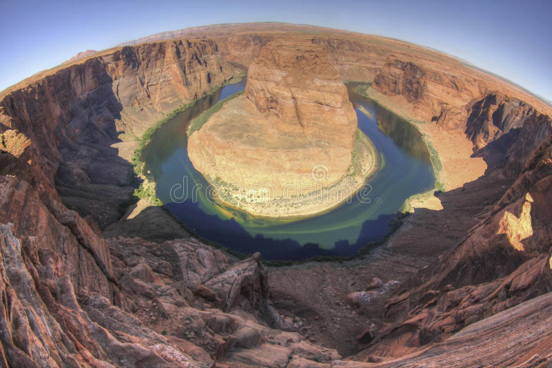 Hoefijzer Kromming, de Rivier van Colorado, Pagina, Arizona stock fotografie