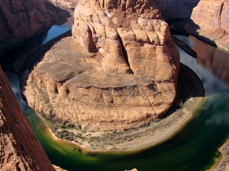 Hoefijzerkromming in de rivier van Colorado, Arizona, de V.S. stock afbeeldingen