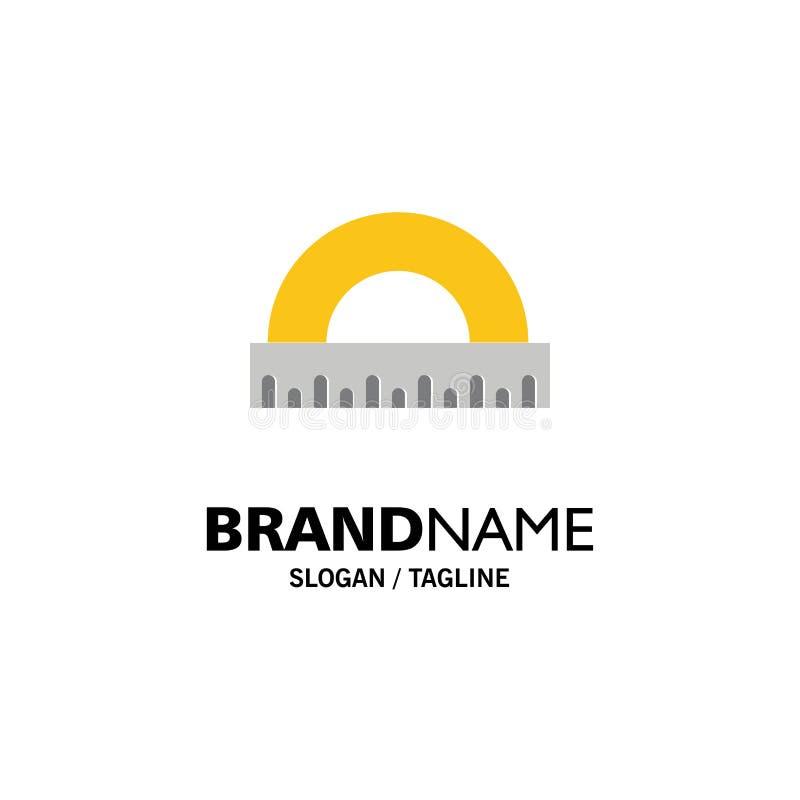 Hoek, Bouw, Maatregel, Heerser, Schaalzaken Logo Template vlakke kleur stock illustratie