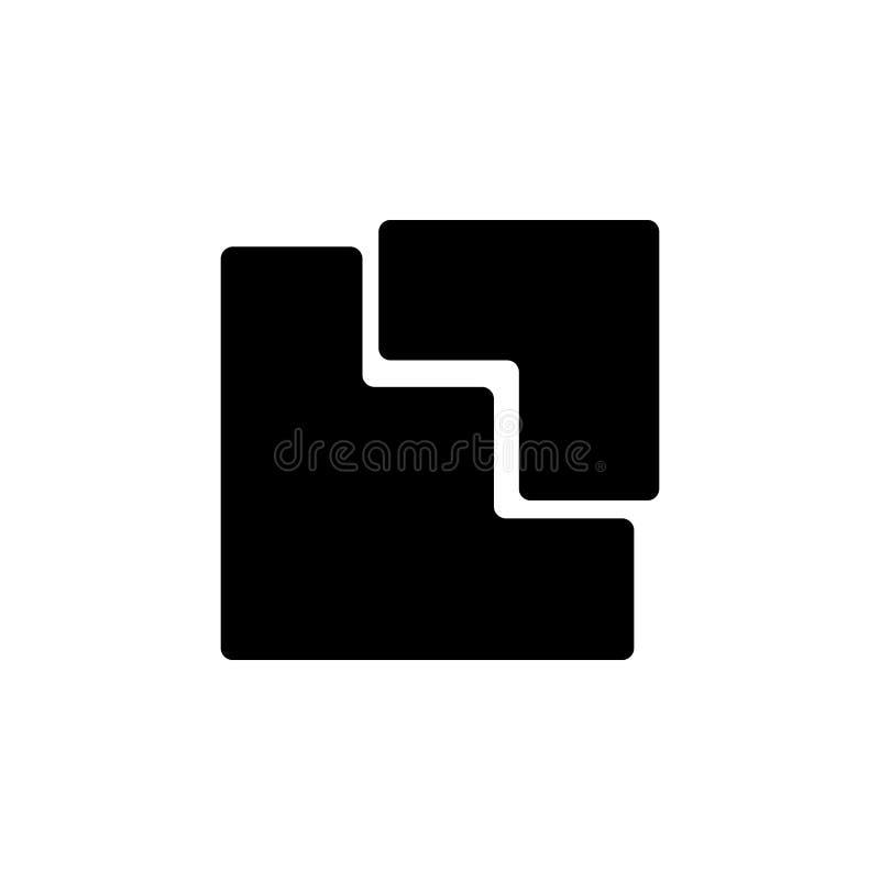 hoek in een vierkant pictogram vector illustratie