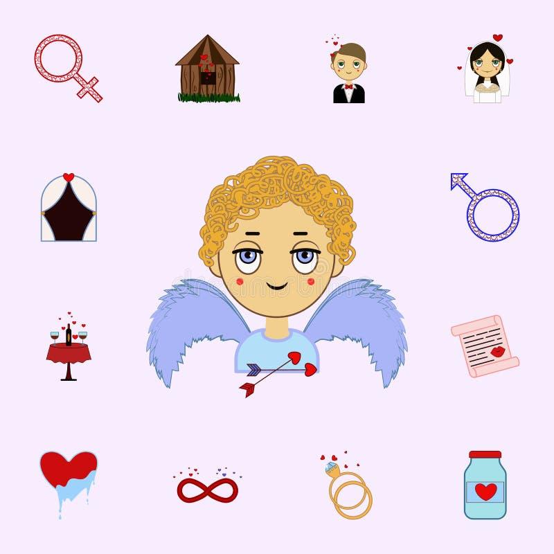 Hoek, hart, kind, het pictogram van de valentijnskaarts dag Voor Web wordt geplaatst dat en het mobiele algemene begrip van liefd vector illustratie