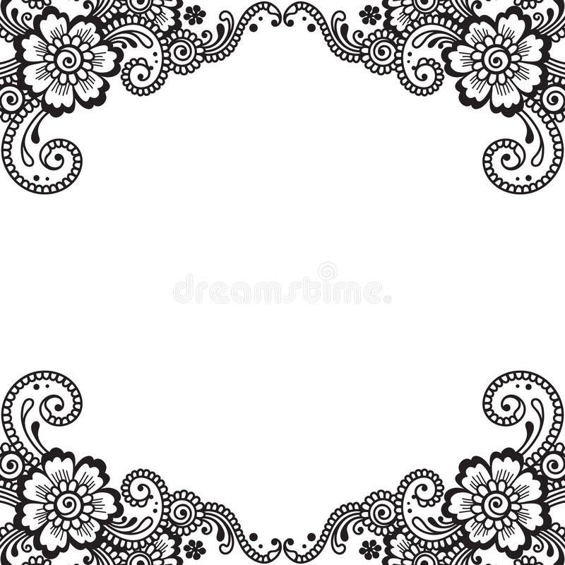 Hoek van het bloem de vectorornament vector illustratie