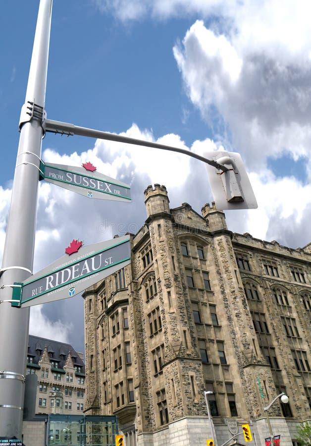 Hoek van Rideau en Sussex, Ottawa, Canada royalty-vrije stock foto's