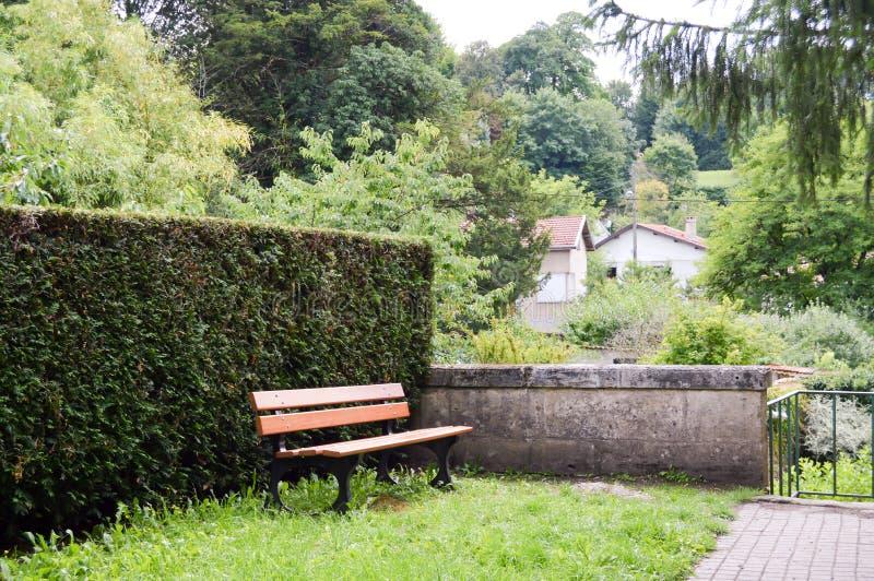 Hoek van rust in een tuin royalty-vrije stock fotografie
