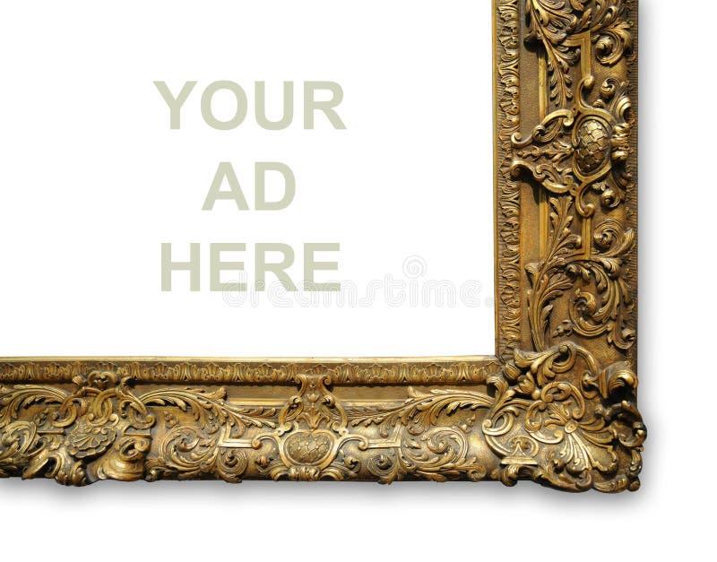 Hoek van Uitstekend Gouden Frame stock foto's