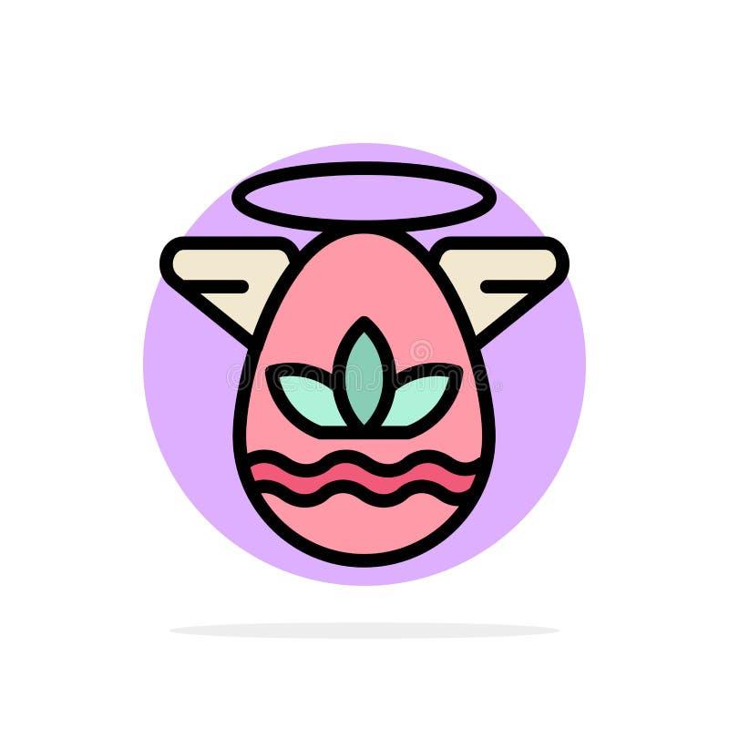 Hoek, Viering, Pasen, van de Achtergrond gradenboog Abstract Cirkel Vlak kleurenpictogram vector illustratie