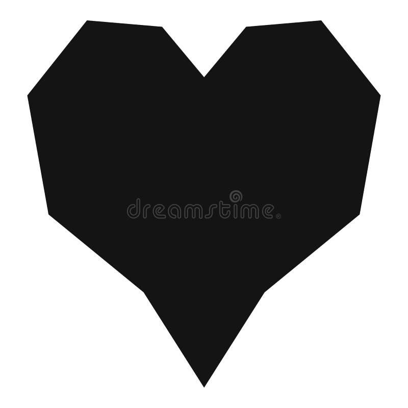 Hoekig hartpictogram, eenvoudige stijl royalty-vrije illustratie