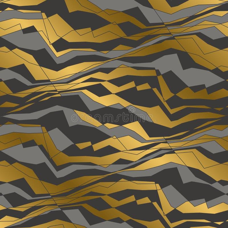 Hoekig lijnen en golven naadloos patroon royalty-vrije illustratie