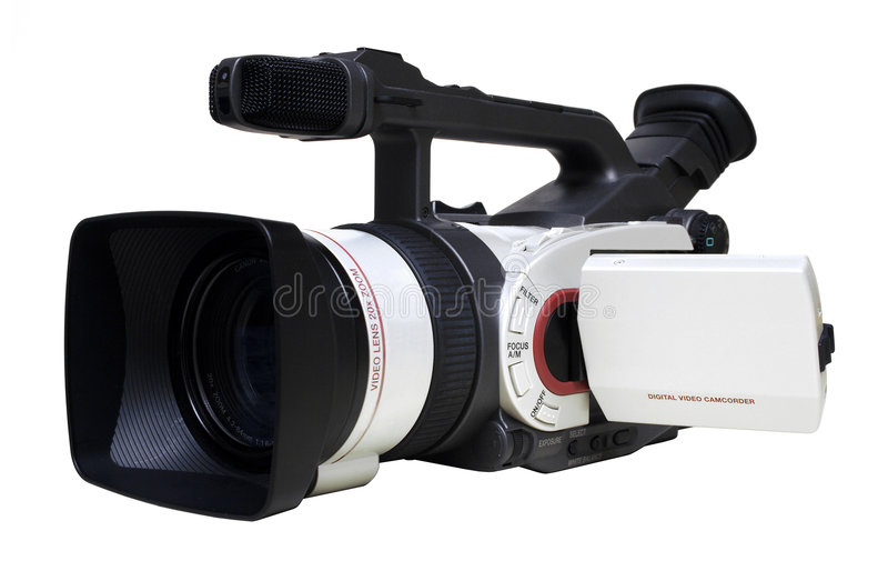 Hoekige Digitale Geïsoleerdei Videocamera - stock foto's