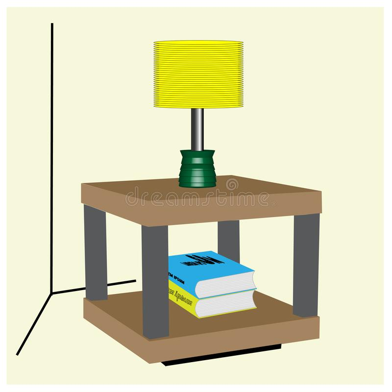 Hoeklijst voor woonkamer en familie vector illustratie
