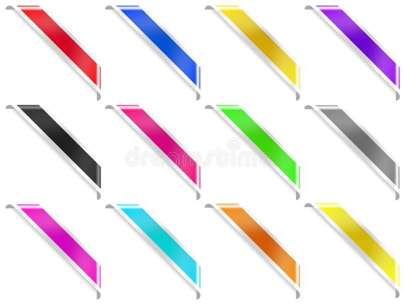 12 hoeklinten met banden vector illustratie