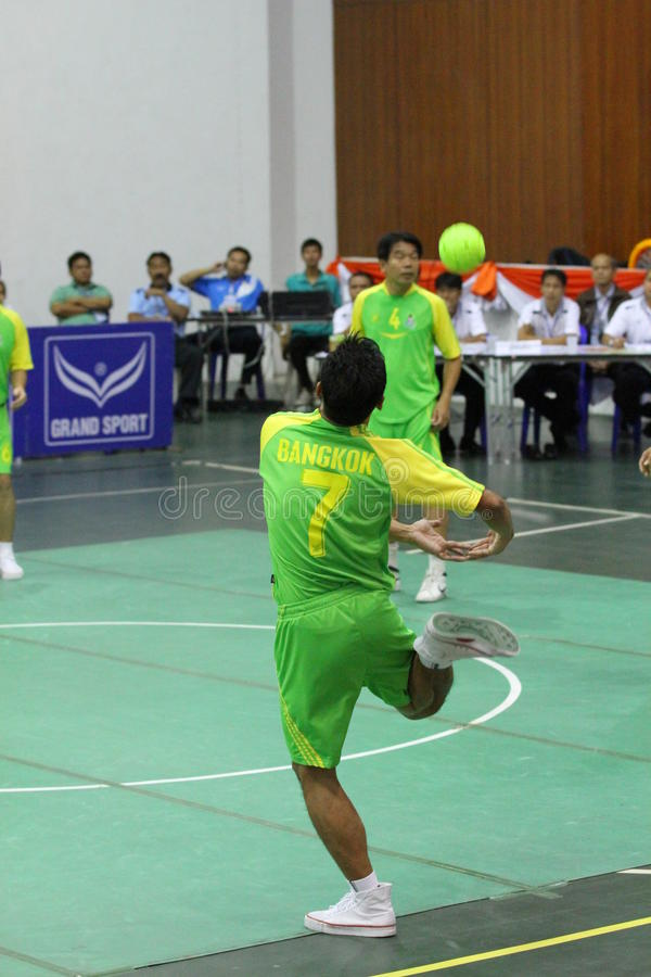 Hoepel Takraw: Chonburigame Thailand royalty-vrije stock foto