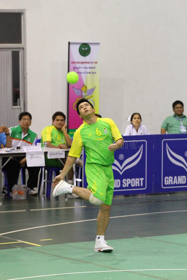 Hoepel Takraw: Chonburigame Thailand stock fotografie