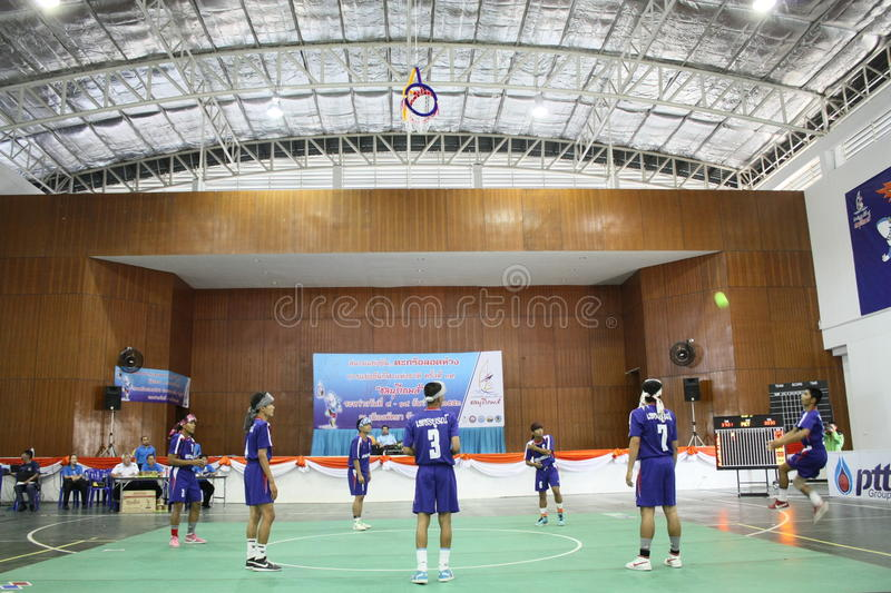 Hoepel Takraw: Chonburigame Thailand stock afbeelding