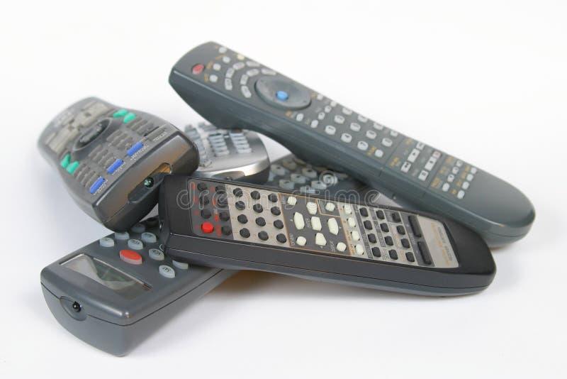 Hoeveel Remotes!? royalty-vrije stock fotografie
