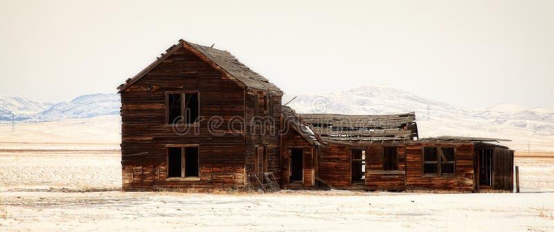 Hoeveruïnes in Montana stock foto
