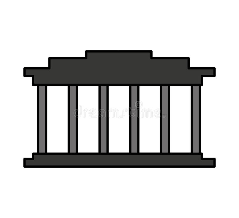 hof de bouw geïsoleerd pictogram royalty-vrije illustratie