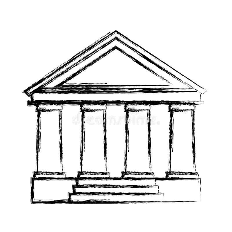 hof de bouw geïsoleerd pictogram stock illustratie