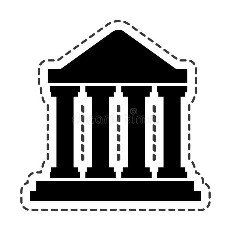 Hof de bouw silhouetpictogram royalty-vrije illustratie