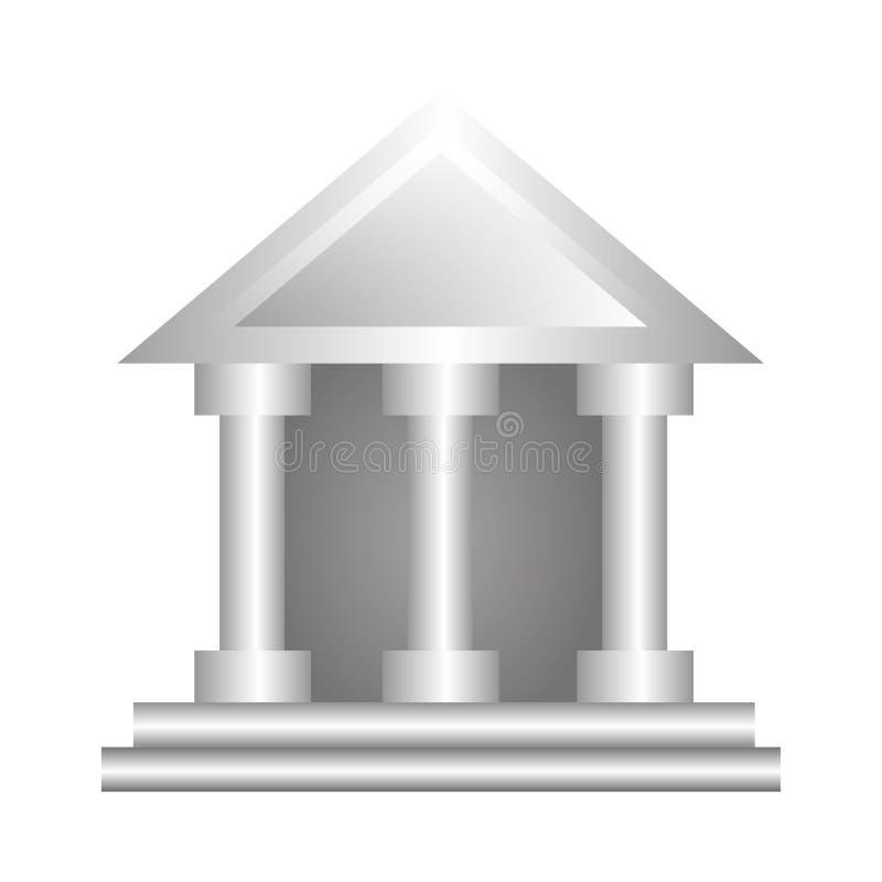 Hof de bouw silhouetpictogram stock illustratie