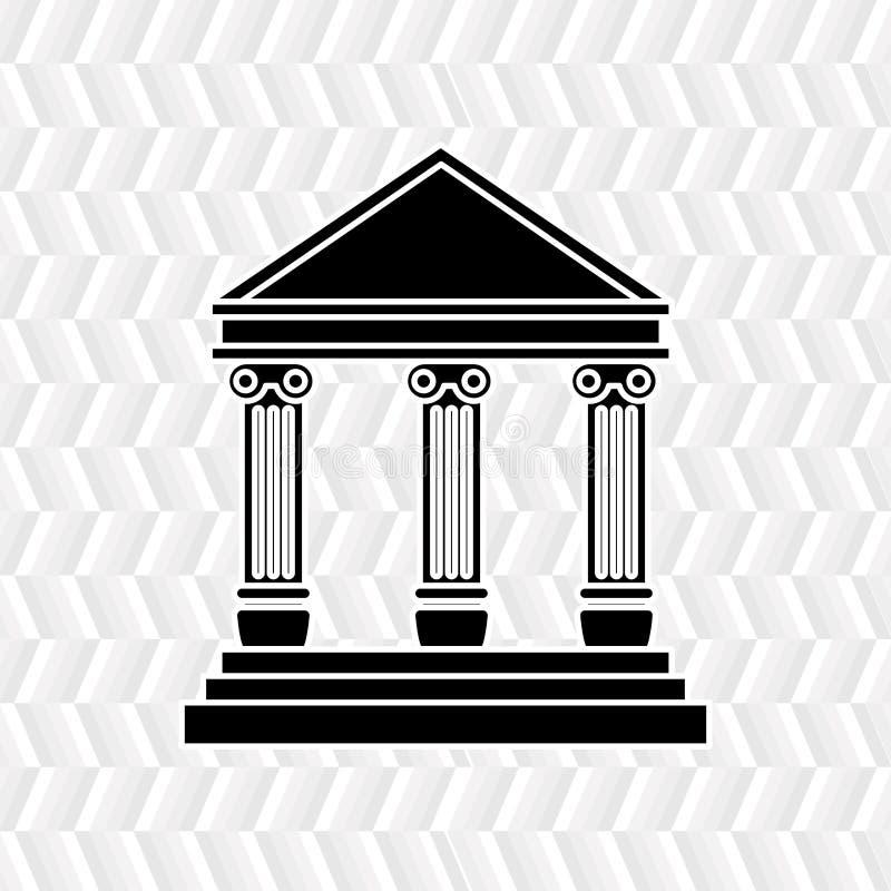 hof de bouwontwerp royalty-vrije illustratie