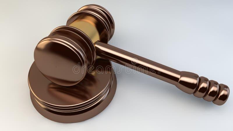 Hof de Rechtvaardigheid Law Lawyer van de Hamerrechter stock illustratie