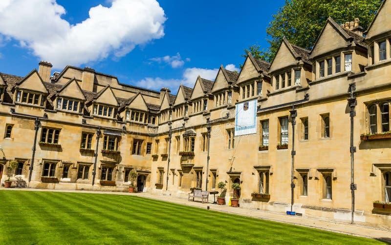 Hof des alten Vierecks Brasenose-Colleges der Universität von Oxford stockbilder