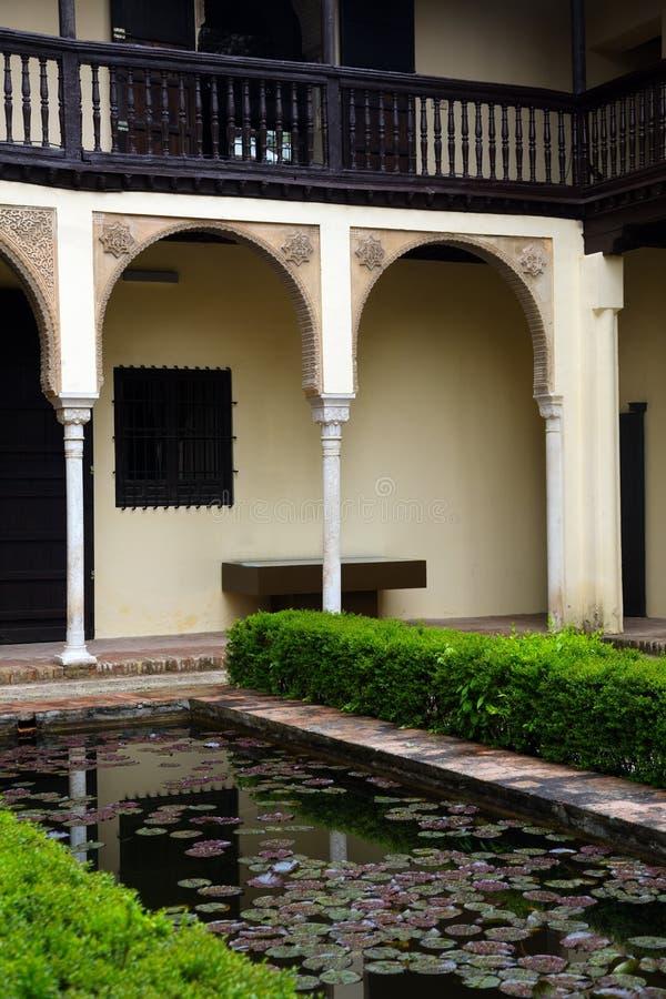 Hof des Hauses von Chapiz (Casa Del Chapiz) granada lizenzfreies stockfoto