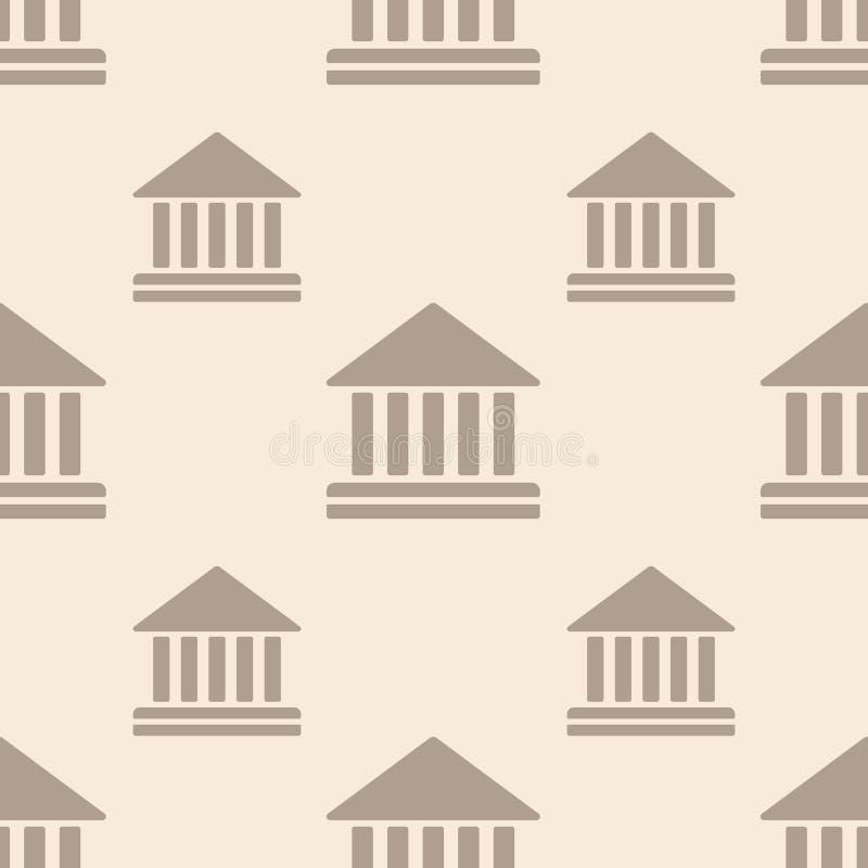 Hof die vectorpictogram naadloos patroon bouwen royalty-vrije illustratie