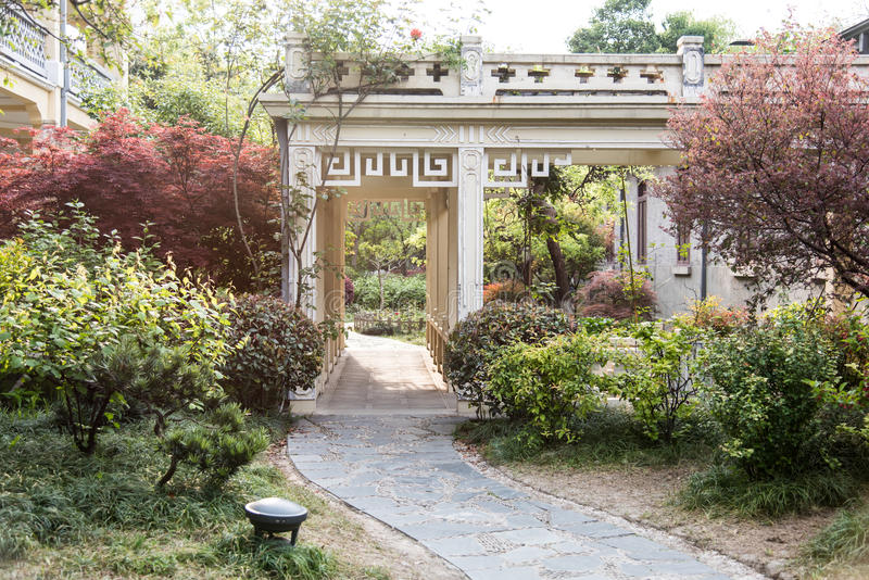Hof-Garten stockbilder