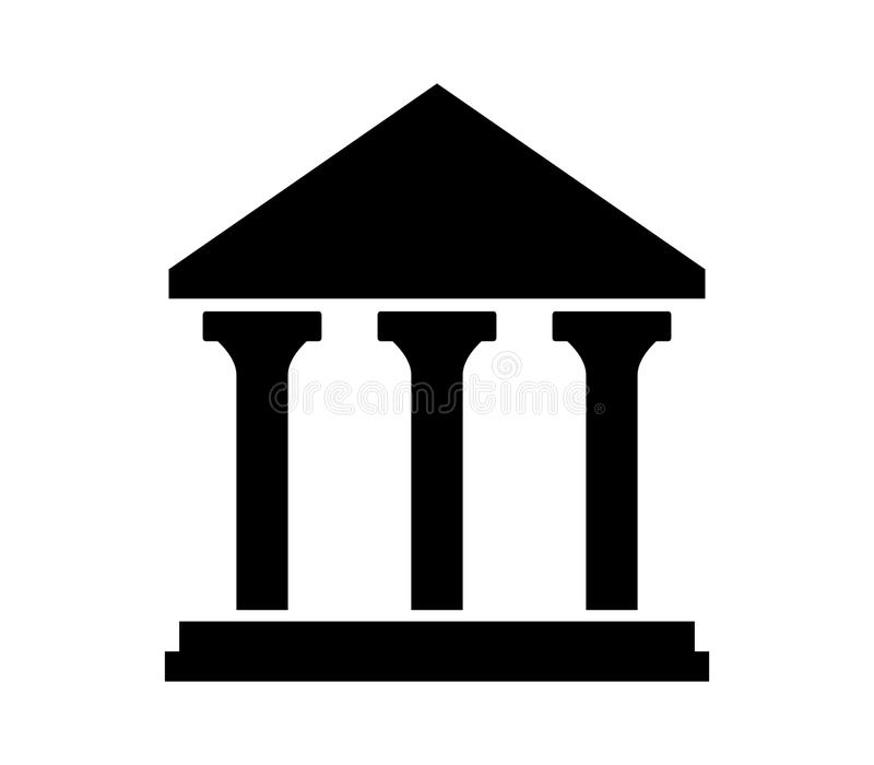 Hof geïllustreerd de bouwpictogram stock illustratie