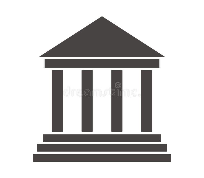 Hof geïllustreerd de bouwpictogram royalty-vrije illustratie