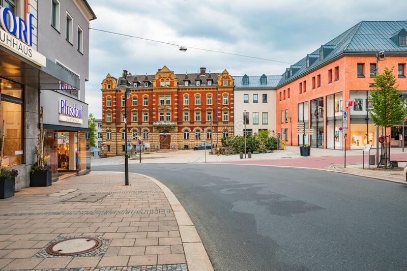 Altstadt street in old town of Hof stock images