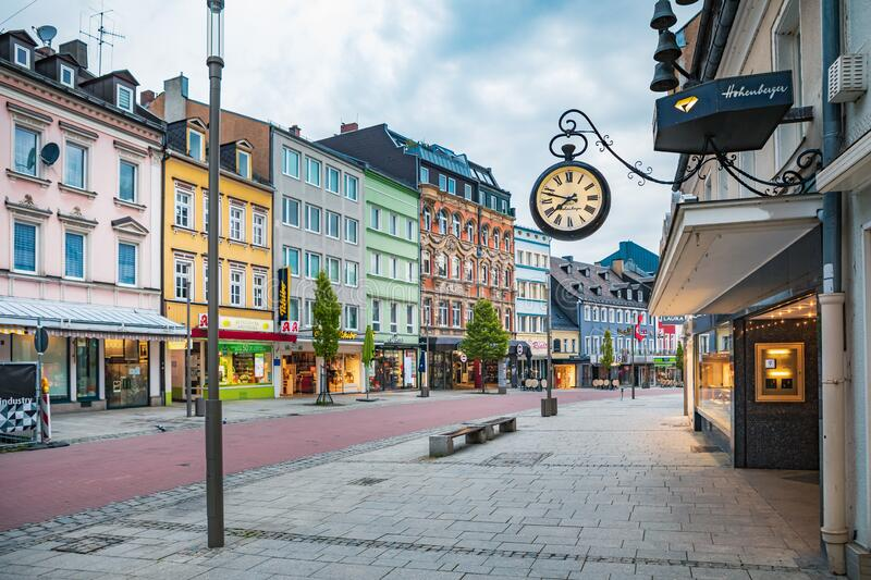 Altstadt street in old town of Hof royalty free stock photography