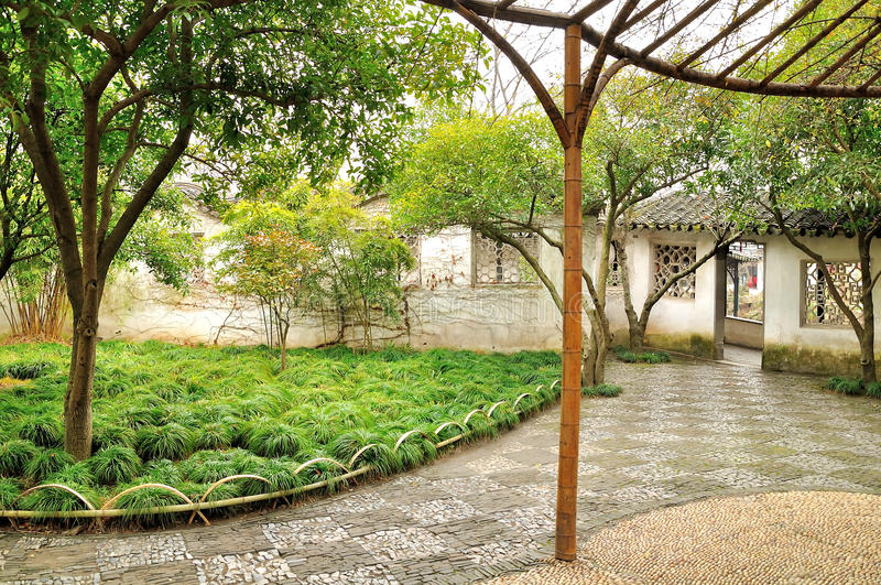 Hof im Garten des bescheidenen Verwalters stockbild