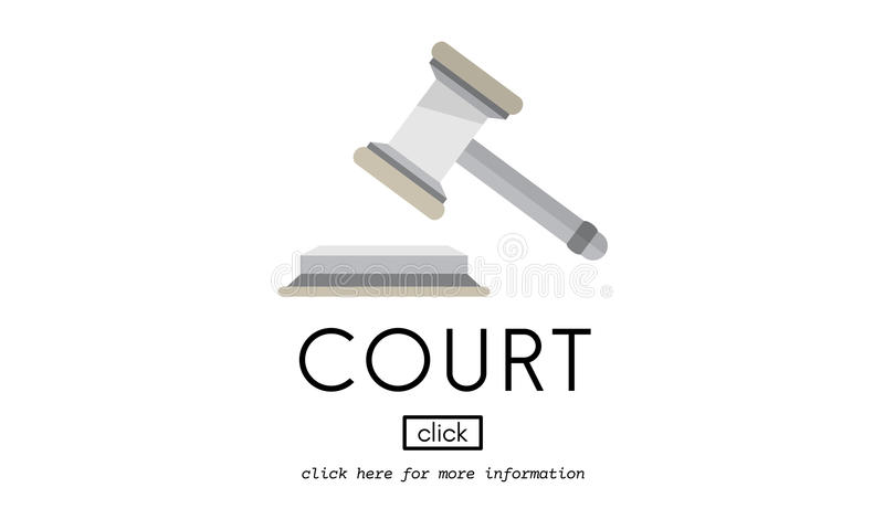 Hof Instantie het Concept van Law Legal Order van de Misdaadrechter stock illustratie
