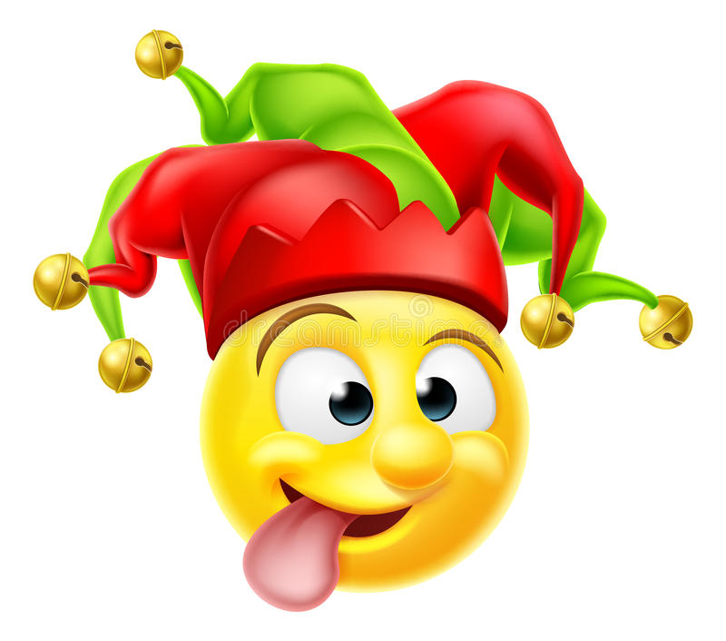 Hof Jester Emoji Emoticon vector illustratie