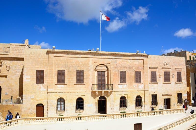 Hof van Justitie Building, Victoria, Gozo stock afbeeldingen