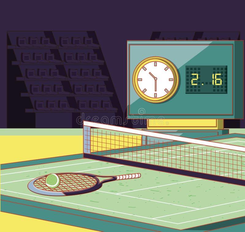 Hof van tennissport vector illustratie