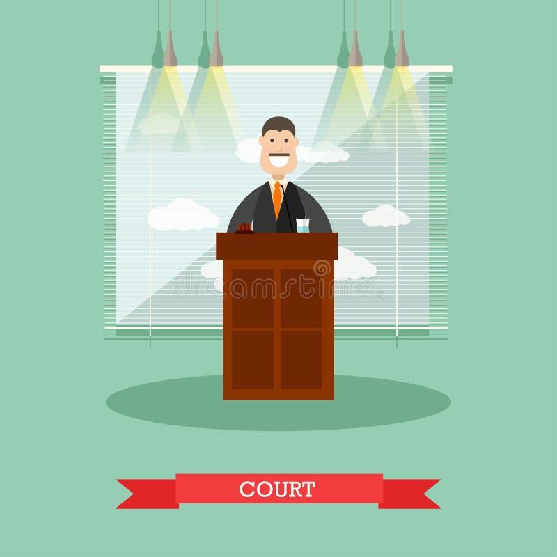 Hof vectorillustratie in vlakke stijl vector illustratie