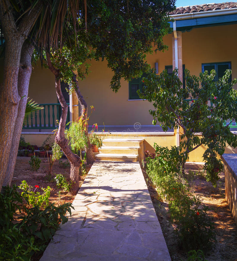 Hof von Challah Sultan Tekke Larnaka zypern stockfotos