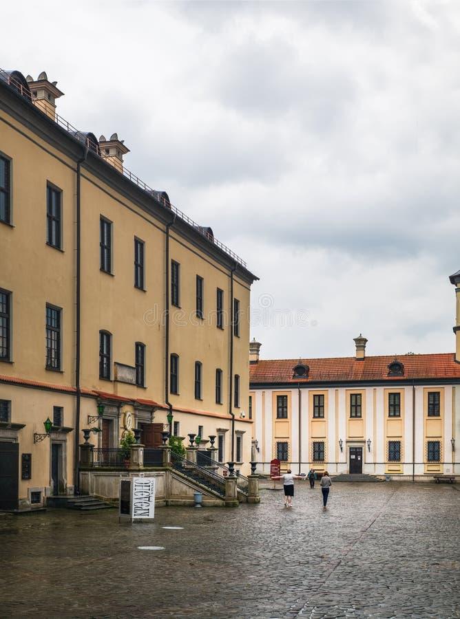 Hof von Nesvizh-Schloss, Minsk-Region, Weißrussland stockbilder