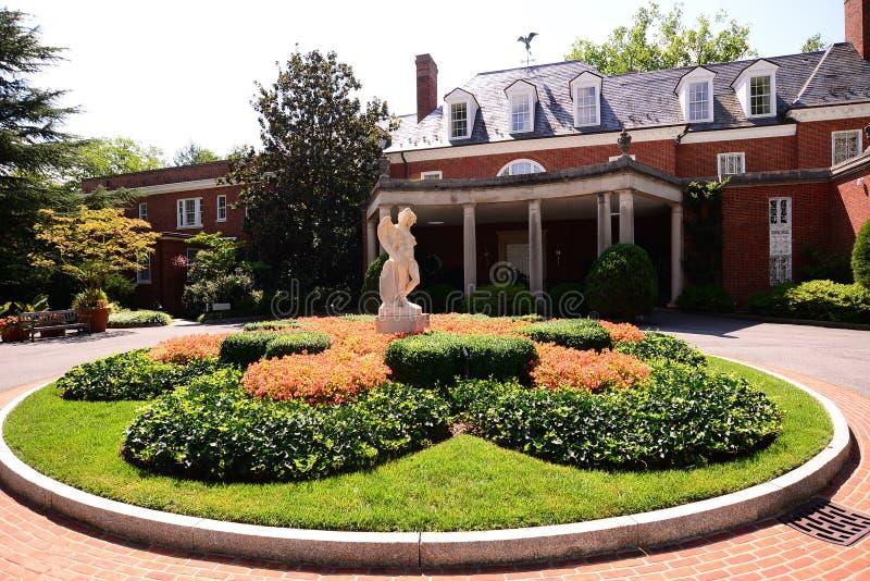 Hof an Zustand, an Museum und an Gärten Hillwood stockfotos